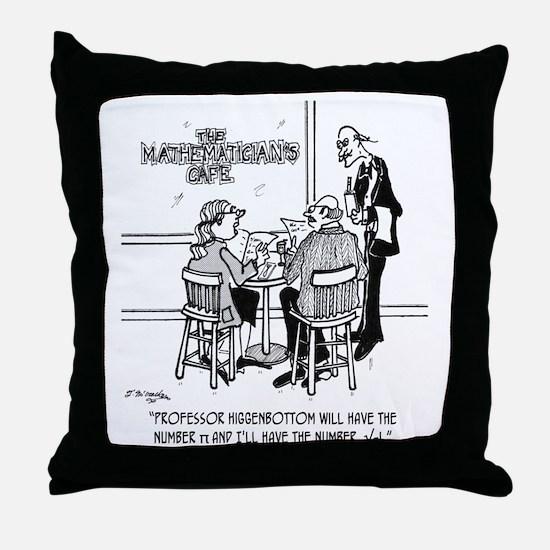 1749_math_cartoon Throw Pillow