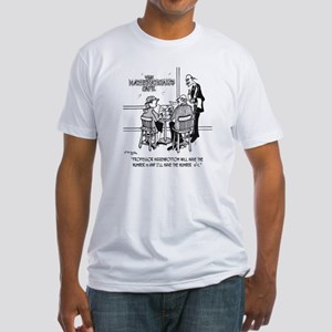 1749_math_cartoon Fitted T-Shirt