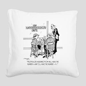 1749_math_cartoon Square Canvas Pillow