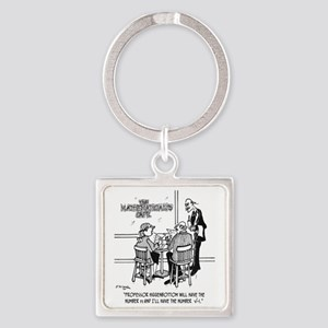 1749_math_cartoon Square Keychain