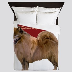 finnish lapphund heart Queen Duvet