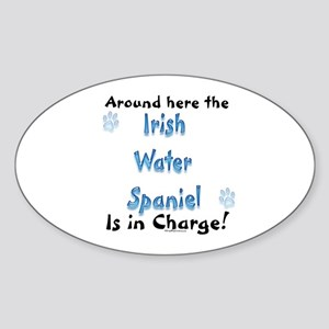 Water Spaniel Charge Oval Sticker