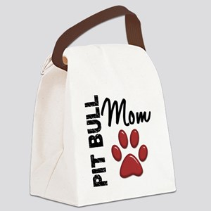 D Pit Bull Mom 2 Canvas Lunch Bag