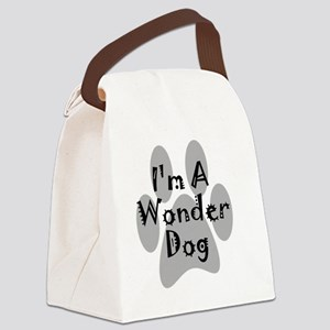 wonder-dog-black Canvas Lunch Bag