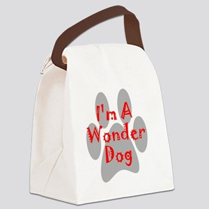 wonder-dog-red Canvas Lunch Bag