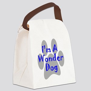 wonder-dog-blue Canvas Lunch Bag