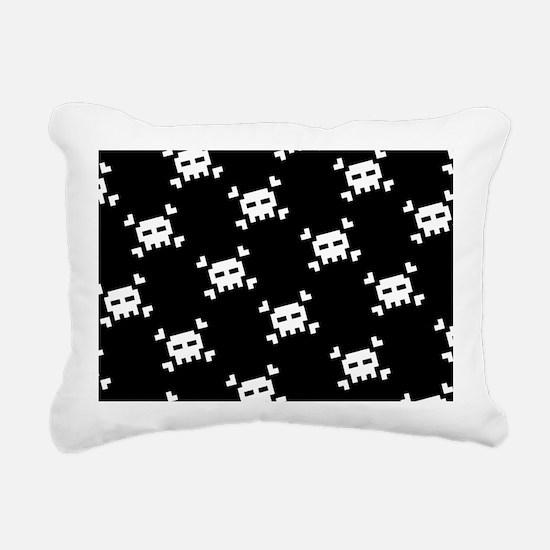 8 bit skulls Rectangular Canvas Pillow