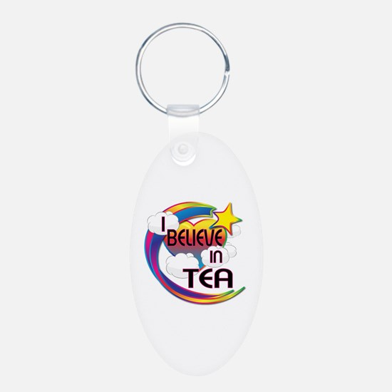 I Believe In Tea Cute Believer Design Keychains