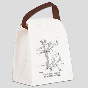 1334_newton_cartoon Canvas Lunch Bag