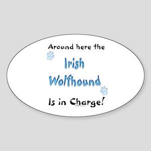 Irish Wolfhound Charge Oval Sticker