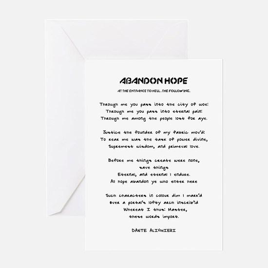 ABANDON HOPE - DANTE ALIGHIERI - ENT Greeting Card