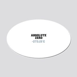 ABSOLUTE ZERO 20x12 Oval Wall Decal