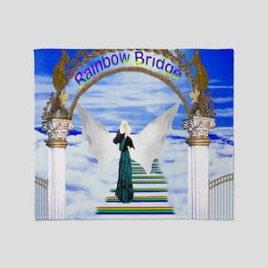 Rainbow bridge stairway Throw Blanket