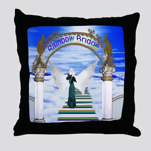 Rainbow bridge stairway Throw Pillow
