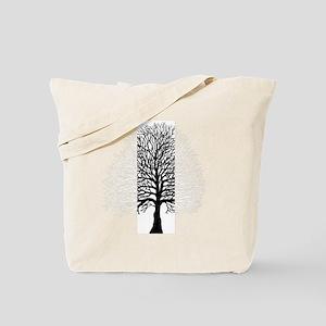 Oak tree for black tee Tote Bag