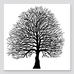 "Oak tree Square Car Magnet 3"" x 3"""
