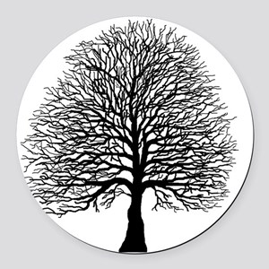 Oak tree Round Car Magnet