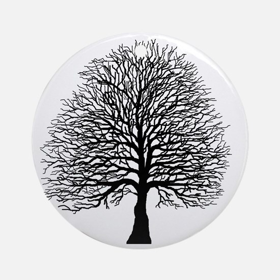 Oak tree Round Ornament