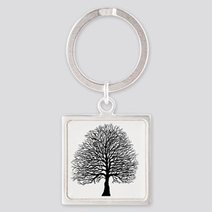 Oak tree Square Keychain