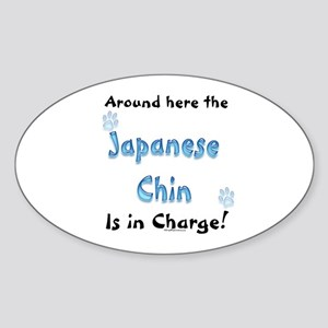 Chin Charge Oval Sticker