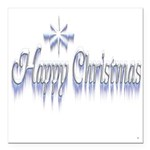 Happy Christams Square Car Magnet 3