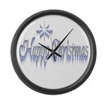 Happy Christams Large Wall Clock