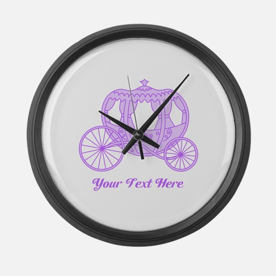Purple Coach with Text Large Wall Clock