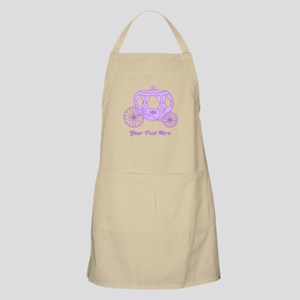 Purple Coach with Text Apron