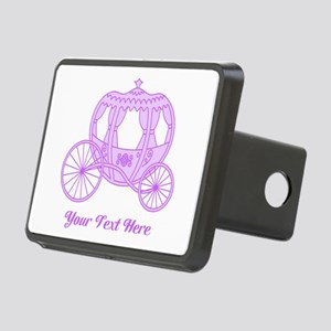 Purple Coach with Text Hitch Cover