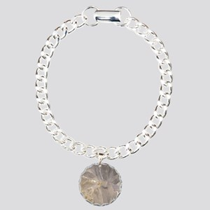 White-Agate-Abstract-Art Charm Bracelet, One Charm