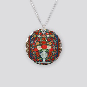 Indian-Floral-Wallpaper-iPad Necklace Circle Charm