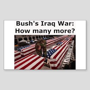 Bush's Iraq War Rectangle Sticker