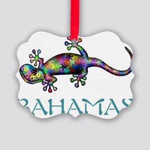 Bahamas Gekco Picture Ornament