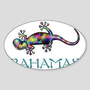 Bahamas Gekco Sticker (Oval)