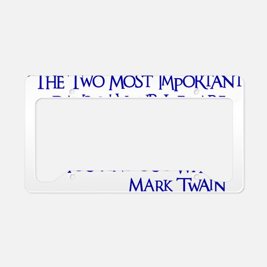 blue, Two Imortant Days License Plate Holder