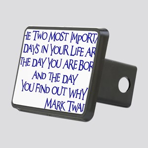 blue, Two Imortant Days Rectangular Hitch Cover