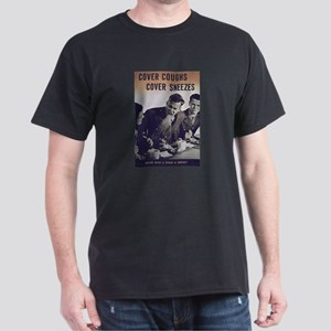 Sneezy Germs Black T-Shirt - FUNNY