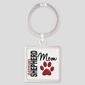 D German Shepherd Mom 2 Square Keychain