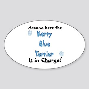 Kerry Blue Charge Oval Sticker