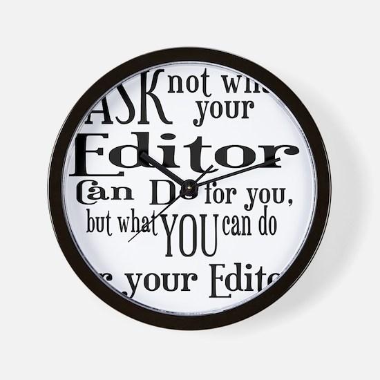 ask not editor Wall Clock