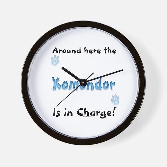 Komondor Charge Wall Clock