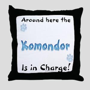 Komondor Charge Throw Pillow