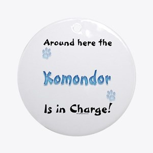 Komondor Charge Ornament (Round)