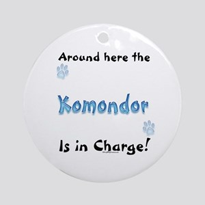 Komondor Charge Ornament (Round)