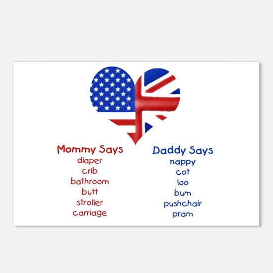 British American Translations Postcards (Package o