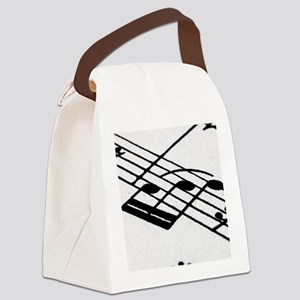 musicnotewallet Canvas Lunch Bag
