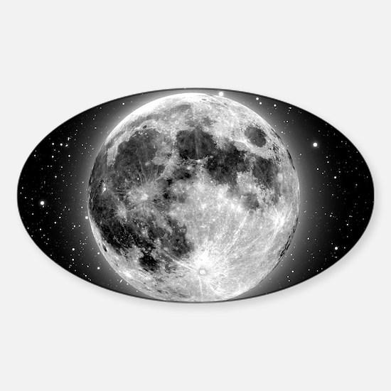 moon bag Sticker (Oval)