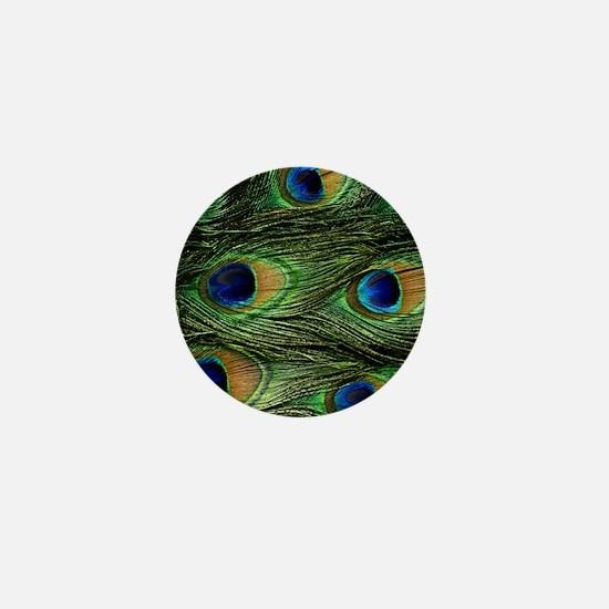 peacock wallet Mini Button