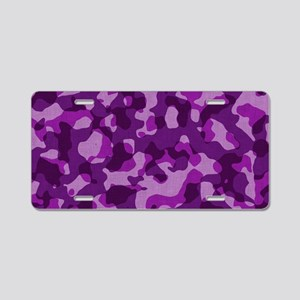 purplepinkcaMO Aluminum License Plate