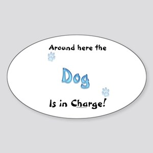 Dog Charge Oval Sticker